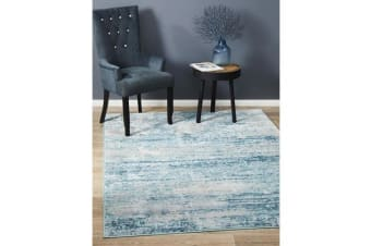 Landon Blue & Cream Vintage Look Rug