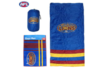 AFL Brisbane Lions Camping Sleeping Bag and Rubber Back Floor Mat by AFL