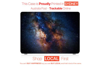 "Hard Case Cover for Apple Macbook Pro 13"" Inch  A1708-Matte Clear-Starry night Blue"