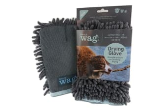 Henry Wag Microfibre Cleaning Glove (Grey/Blue) (One Size)