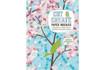 Cut and Create Paper Mosaics - Craft Mosaic-by-Number Artworks with Paper Tiles, Scissors, and Glue