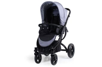 Valco Baby Rebel Q Ex Pram/Stroller Foldable/Recline for Baby/Infant Grey Stone