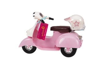 Our Generation Ride In Style Scooter - Pink and Ivory