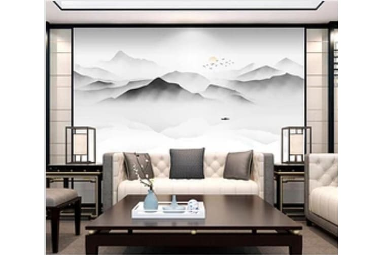3D Misty Valley 547 Wall Murals Self-adhesive Vinyl, XXL 312cm x 219cm (WxH)(123''x87'')